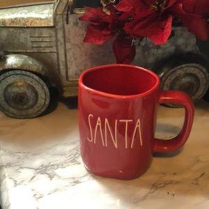 Rae Dunn Red SANTA  Christmas Mug